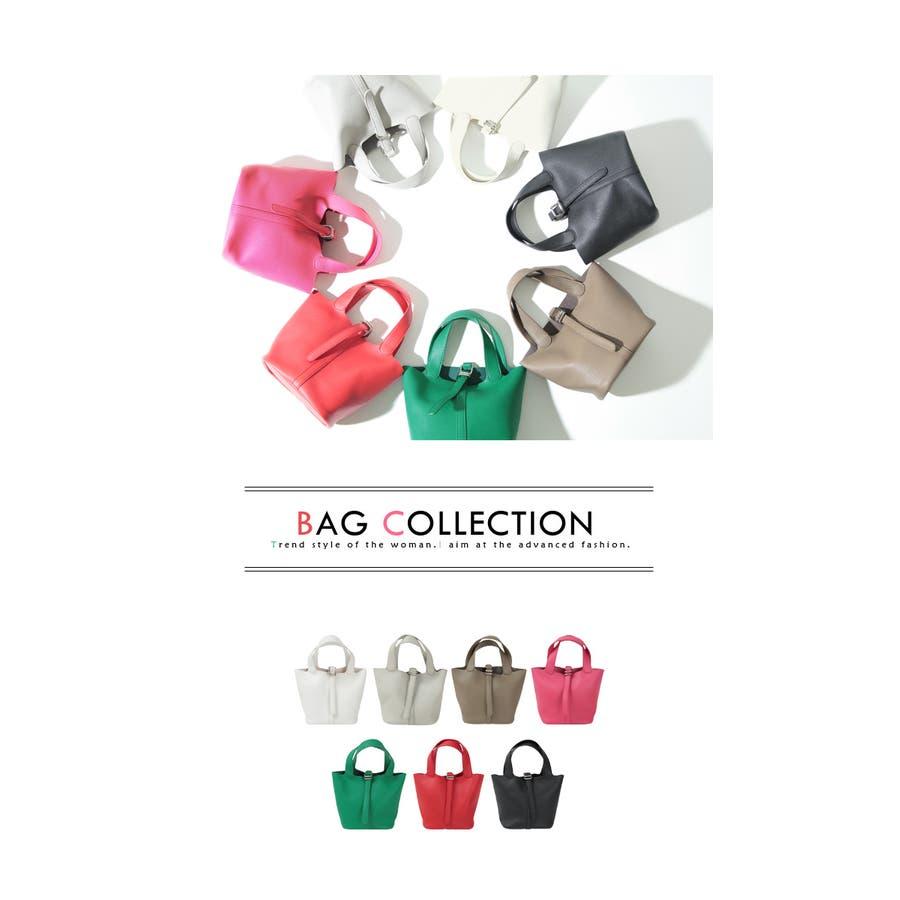 スモールシンプルハンドバッグ/どんなコーディネートにも合わせやすいハンドバッグ/バッグ/レディース/鞄/ハンドバッグ/小さめ/ベルト/合皮 3