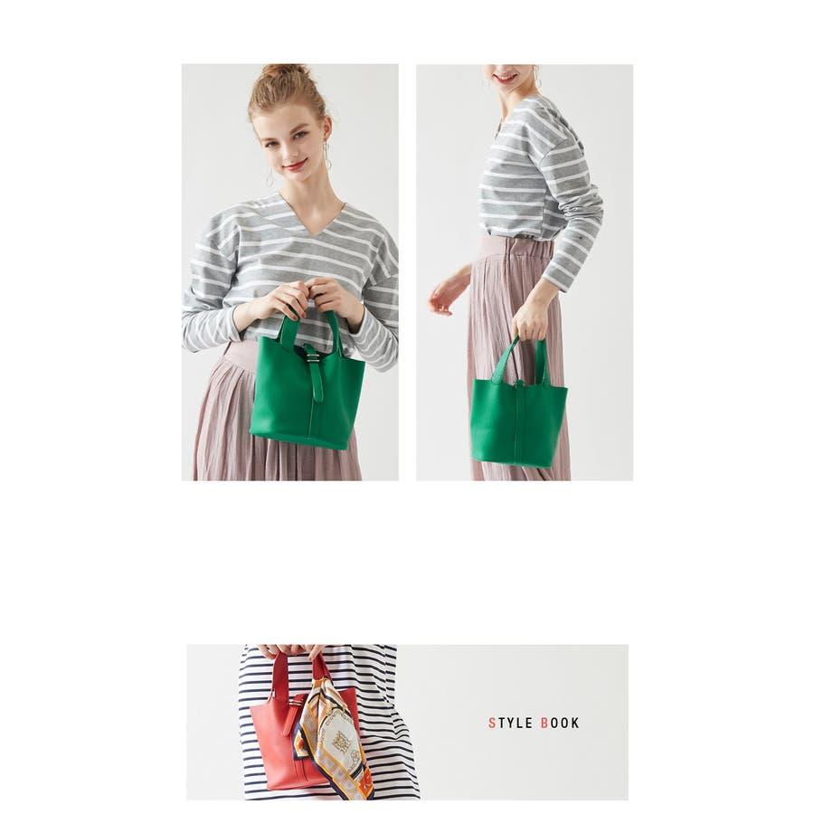 スモールシンプルハンドバッグ/どんなコーディネートにも合わせやすいハンドバッグ/バッグ/レディース/鞄/ハンドバッグ/小さめ/ベルト/合皮 5