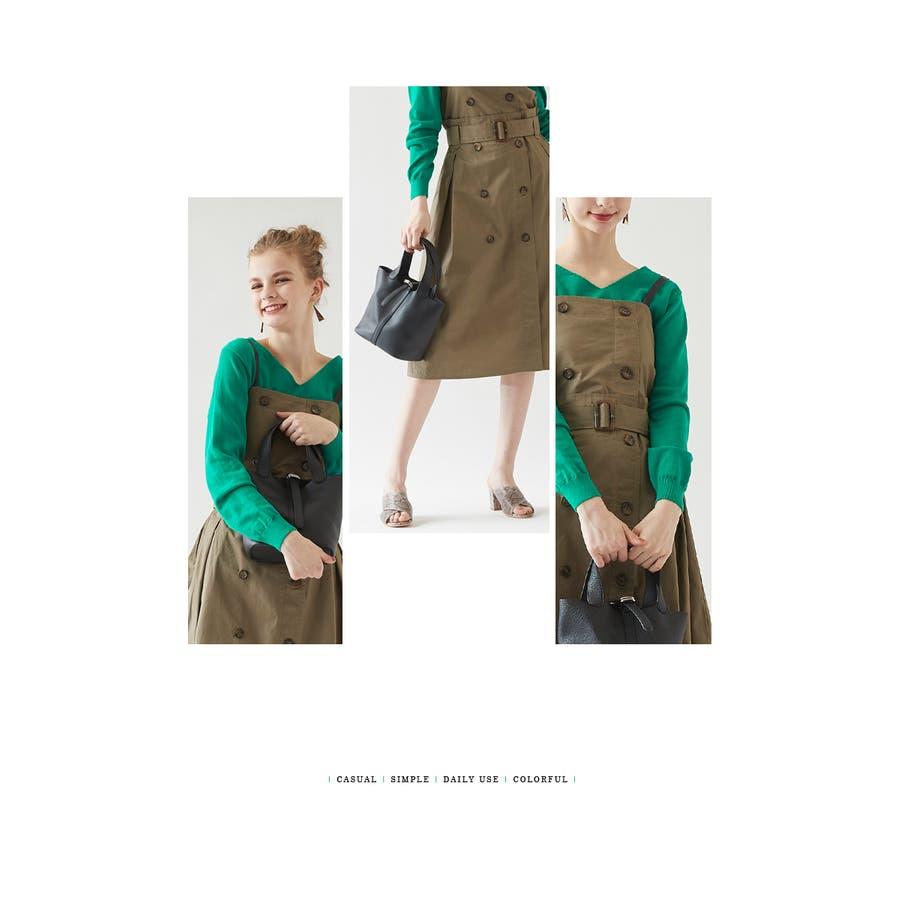 スモールシンプルハンドバッグ/どんなコーディネートにも合わせやすいハンドバッグ/バッグ/レディース/鞄/ハンドバッグ/小さめ/ベルト/合皮 7