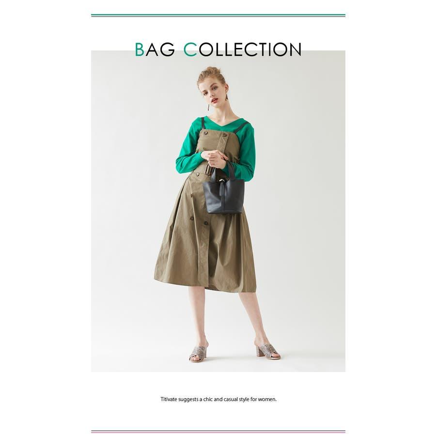 スモールシンプルハンドバッグ/どんなコーディネートにも合わせやすいハンドバッグ/バッグ/レディース/鞄/ハンドバッグ/小さめ/ベルト/合皮 8