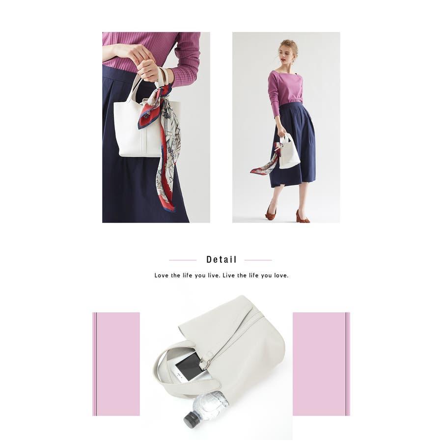 スモールシンプルハンドバッグ/どんなコーディネートにも合わせやすいハンドバッグ/バッグ/レディース/鞄/ハンドバッグ/小さめ/ベルト/合皮 9