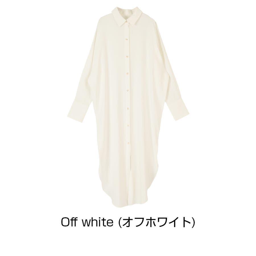 オーバーサイズマキシシャツワンピース/オーバーサイズシルエットで抜け感のあるコーディネートが/ワンピース/レディース/シャツワンピ/ゆったり/長袖/シャツ襟/麻混/羽織り/抜け感 2