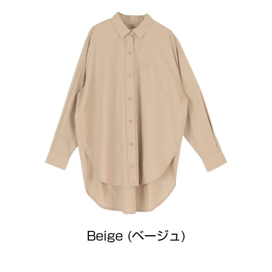 2wayデザインオーバーシャツ/2wayで楽しむことが出来る/トップス/レディース/シャツ/2way/カシュクール/羽織り/シンプル/ベーシック/ストライプ/無地/長袖/オーバーサイズ/ゆったり 4