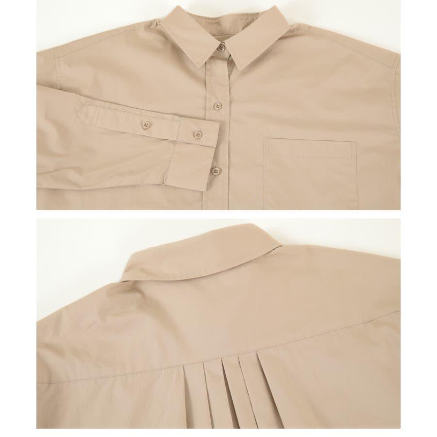 2wayデザインオーバーシャツ/2wayで楽しむことが出来る/トップス/レディース/シャツ/2way/カシュクール/羽織り/シンプル/ベーシック/ストライプ/無地/長袖/オーバーサイズ/ゆったり 6