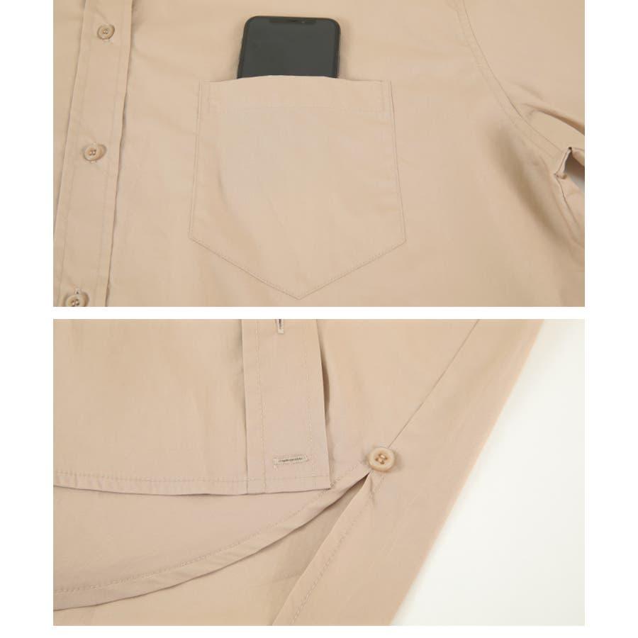 2wayデザインオーバーシャツ/2wayで楽しむことが出来る/トップス/レディース/シャツ/2way/カシュクール/羽織り/シンプル/ベーシック/ストライプ/無地/長袖/オーバーサイズ/ゆったり 7