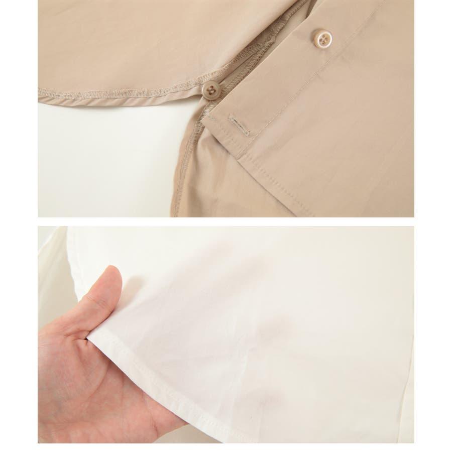 2wayデザインオーバーシャツ/2wayで楽しむことが出来る/トップス/レディース/シャツ/2way/カシュクール/羽織り/シンプル/ベーシック/ストライプ/無地/長袖/オーバーサイズ/ゆったり 8