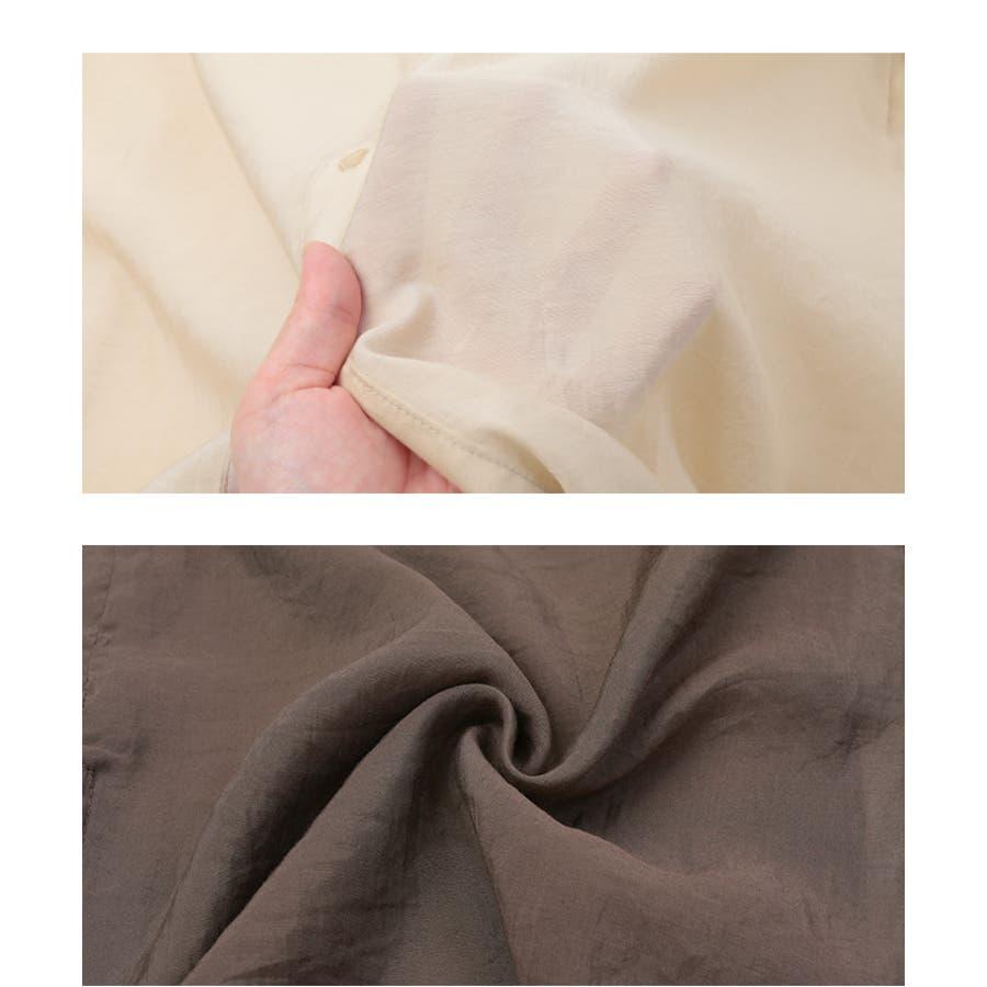 シアーバックスリットデザインシャツ/トップス/レディース/シャツ/シアー/バックスリット/リボン/ボタン/透け感【UR'S ユアーズ】 7