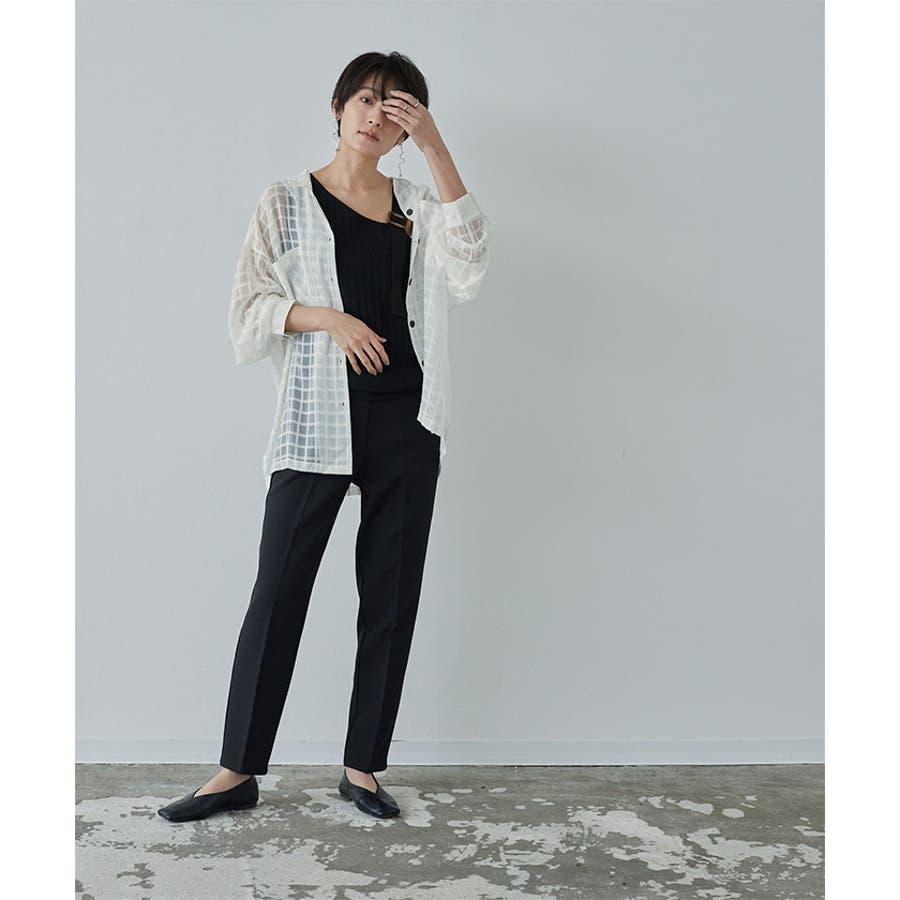 オーバーサイズシアーチェックワークシャツ【miette ミエット】 9