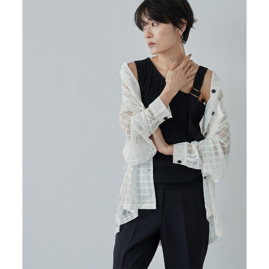 オーバーサイズシアーチェックワークシャツ【miette ミエット】 10