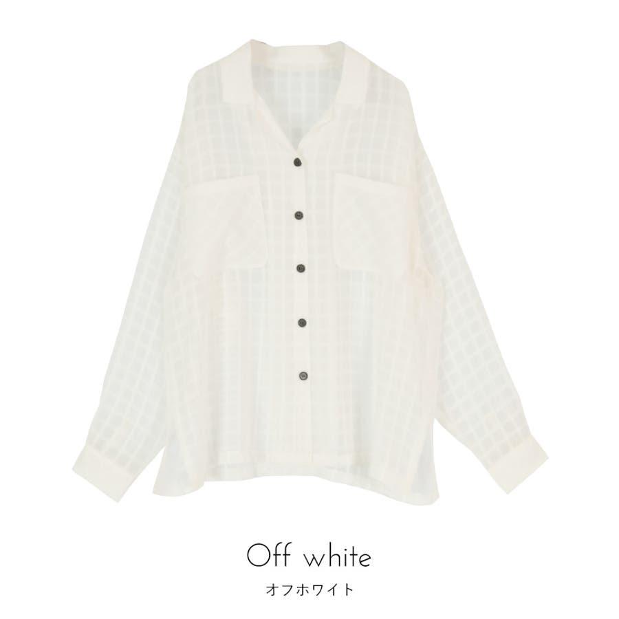 オーバーサイズシアーチェックワークシャツ【miette ミエット】 2