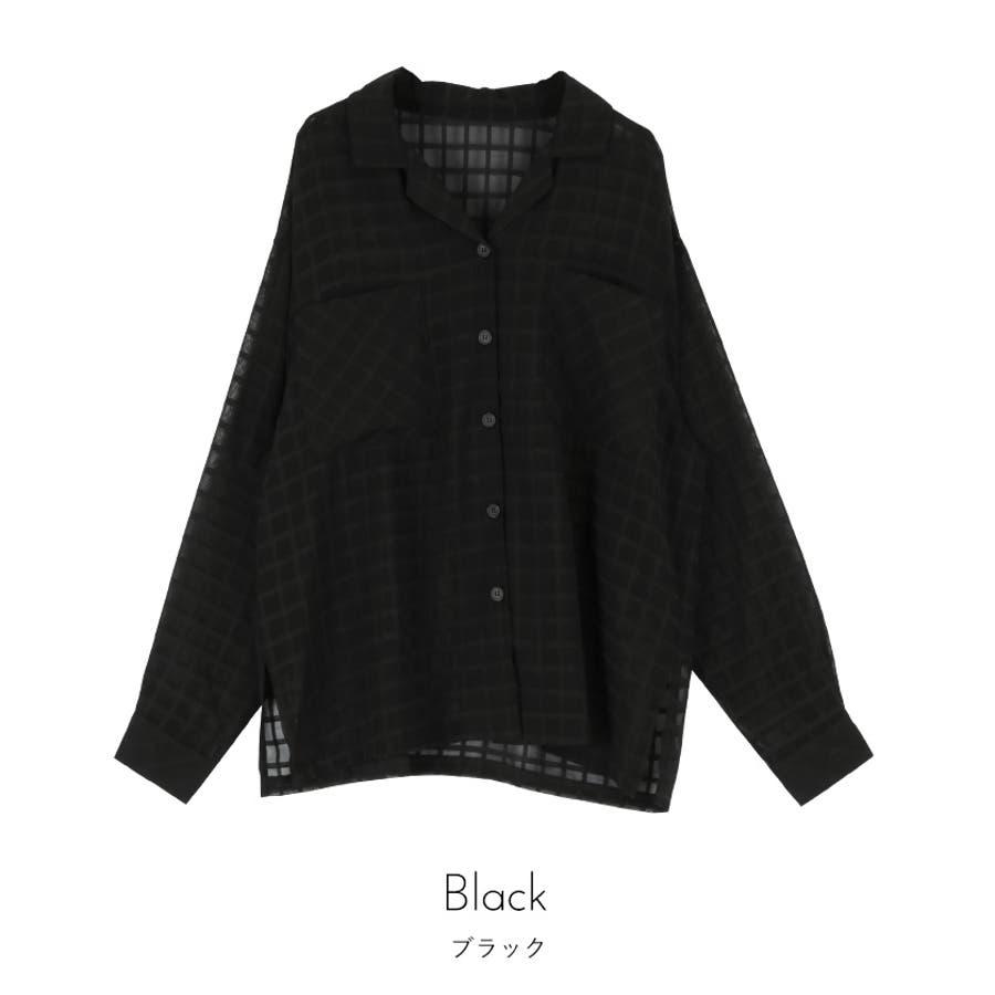 オーバーサイズシアーチェックワークシャツ【miette ミエット】 3