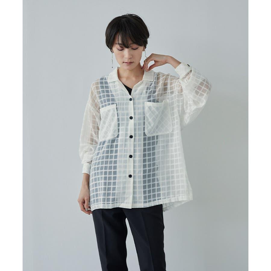 オーバーサイズシアーチェックワークシャツ【miette ミエット】 1