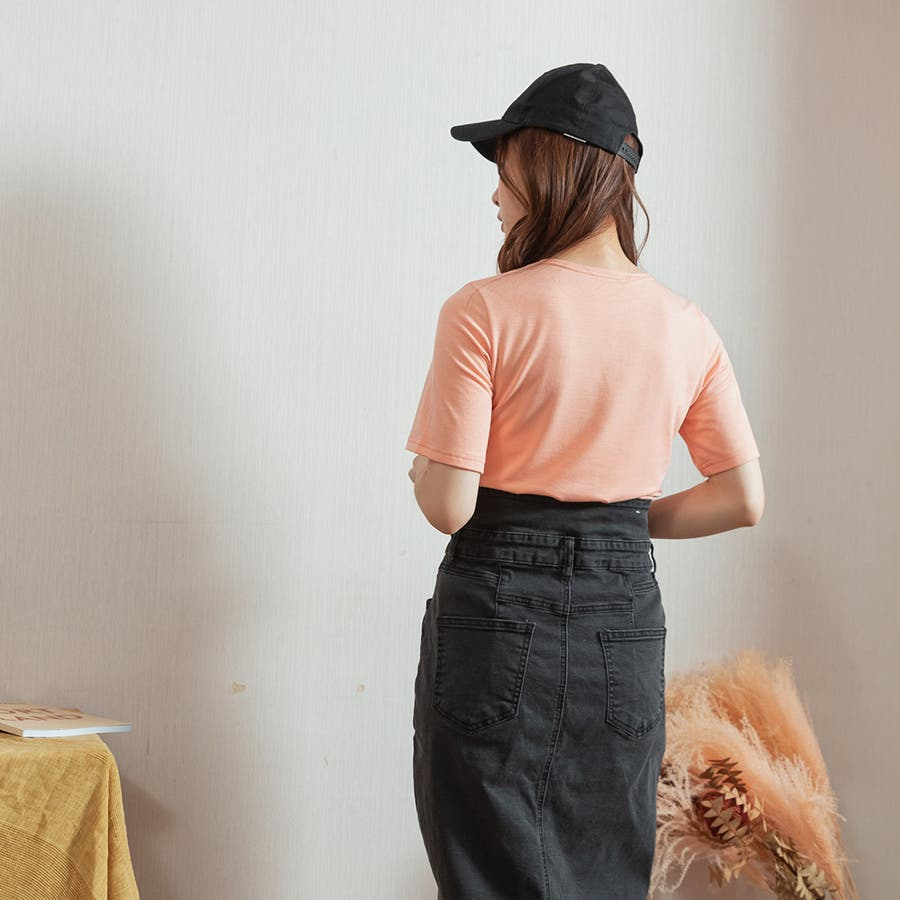 【Toki Choi】Made in Taiwan シンプル自在Vネック無地快適トップス-200235レディース/MIT/シンプル/自在/Vネック/無地/快適/トップス/春夏/通勤/オフィス/女子力/カジュアル☆ 6