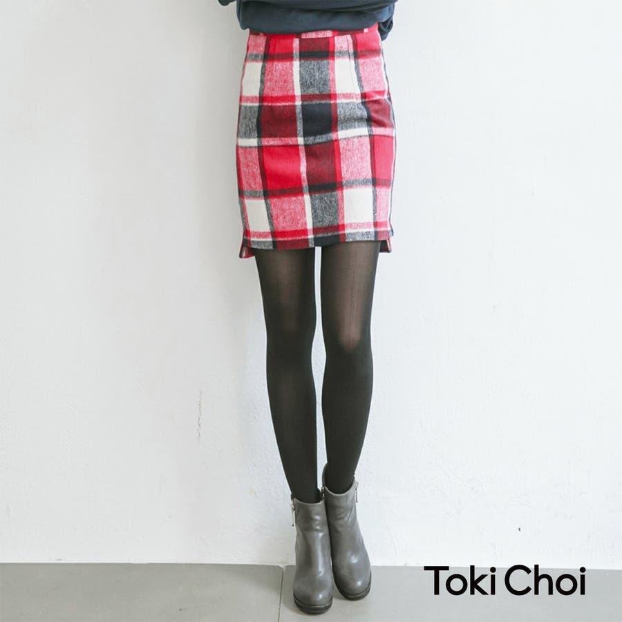 自分らしい普段服 Toki Choi チェックファスナータイトスカート-4032917 20151130 由来