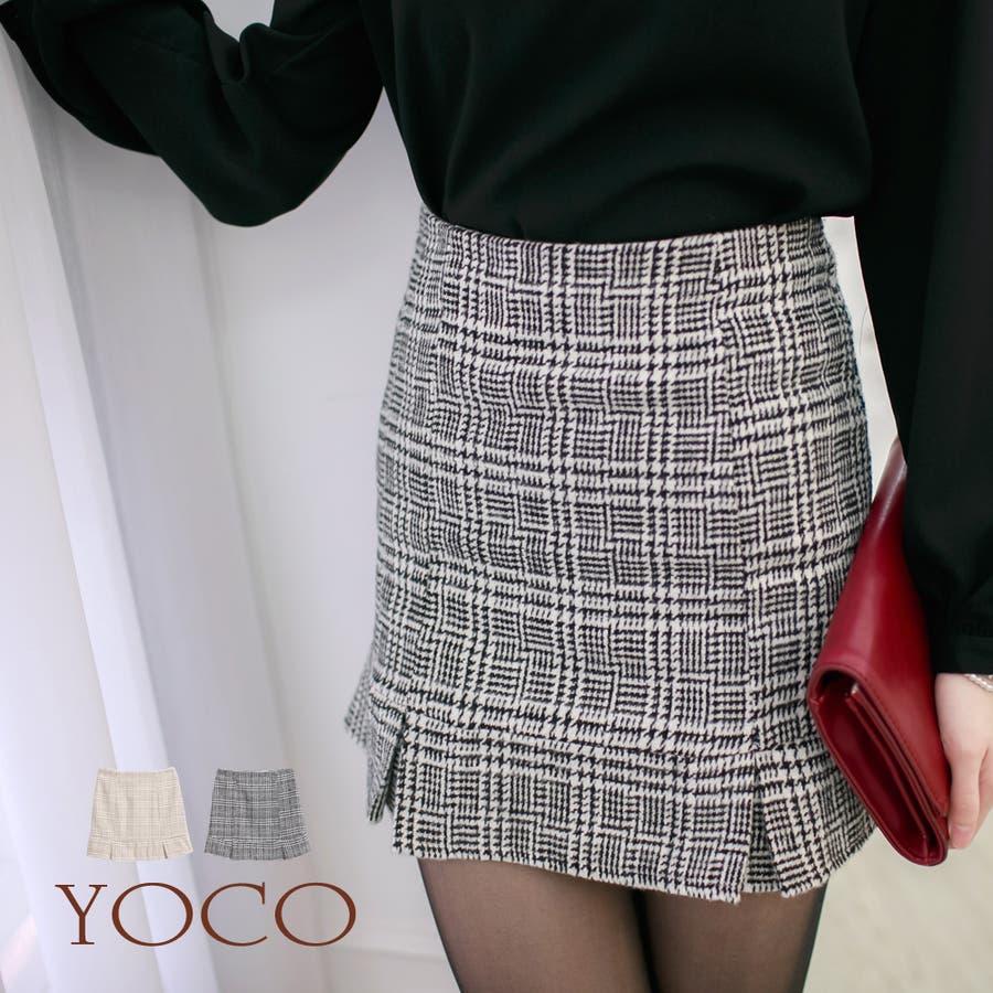 最高!!!! YOCO チェックギャザータイトスカート-5026879 20151231 渦中