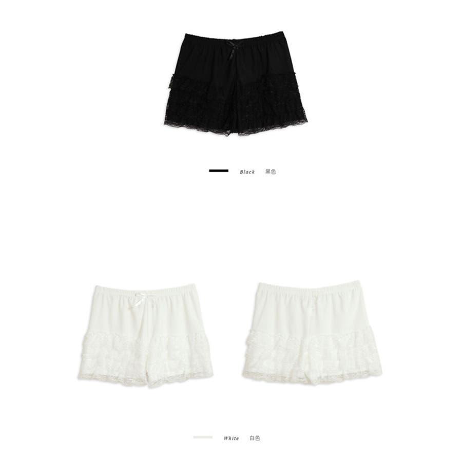 【YOCO】透かしレースティアードショートパンツ-5003704【ロングセラー】【春夏】【秋冬】【春先行】 2