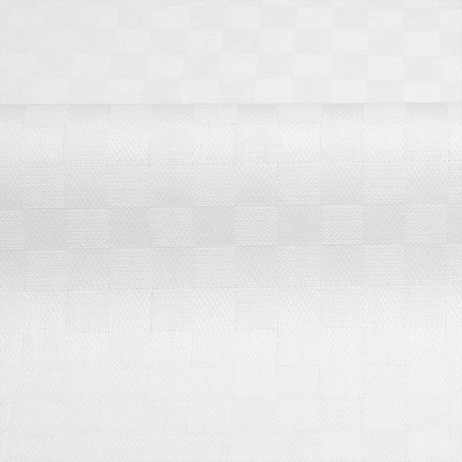 ワイシャツ 長袖 形態安定 ラクリア ドゥエボットーニ ボタンダウン 白×市松格子織柄 スリム 4