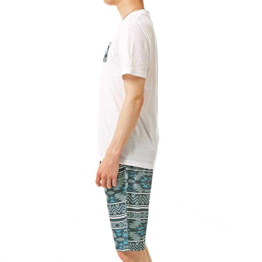 上下セット メンズ セットアップ ポケット付 クルーネック 半袖 Tシャツ カモフラ 迷彩柄 ボタニカル ボーダー ハーフパンツ ショートパンツ ショーツ ルームウェア トップス 通販 新作 夏服 9