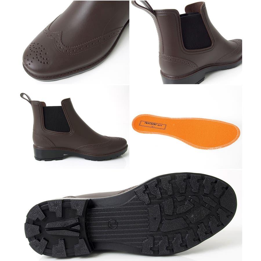 完全防水 レインブーツ メンズ サイドゴア ウイングチップ スノー ブーツ シューズ ラバー 長靴 雨靴 紳士 靴 ビジネス 雨具メンズファッション 通販 新作 9