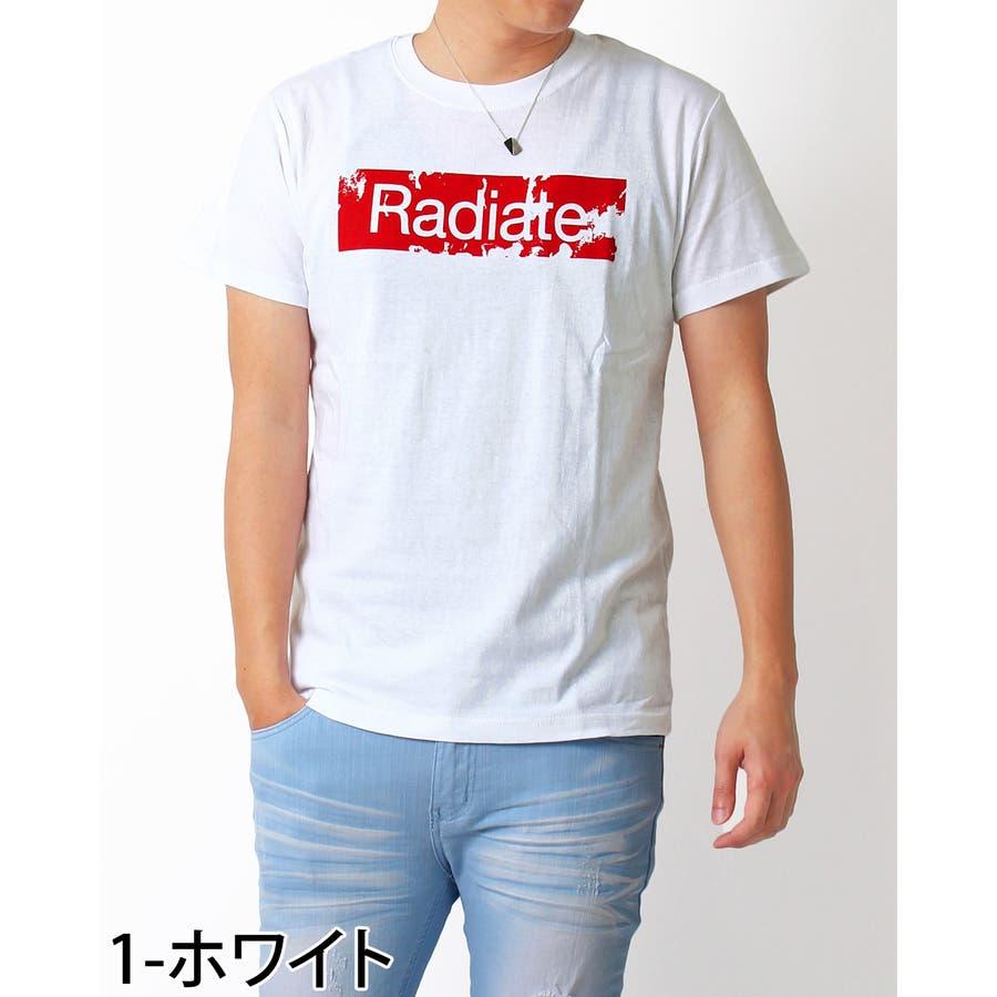 Tシャツ メンズ 半袖 ボックス ロゴ プリント クルーネック ブラック ホワイト ネイビー コットン 綿100% ティーシャツトップス 通販 新作 春 夏 服 2