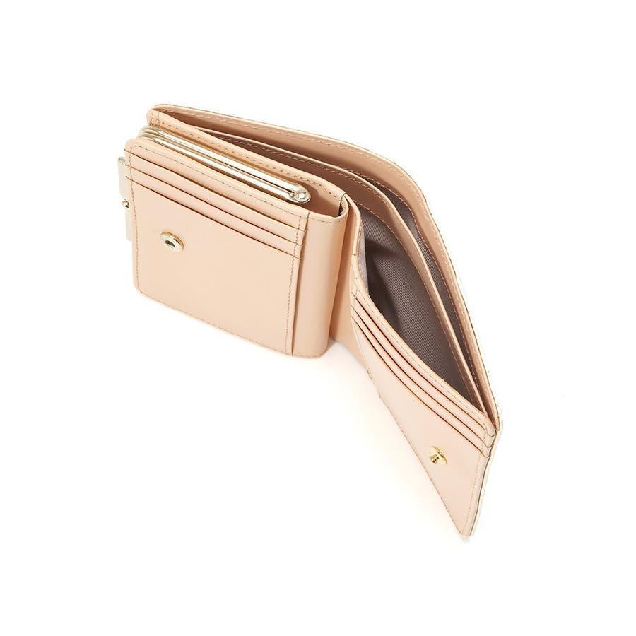イタリアンレザー・リザード型押し・がま口2つ折り財布 LUCIA ルチア 1