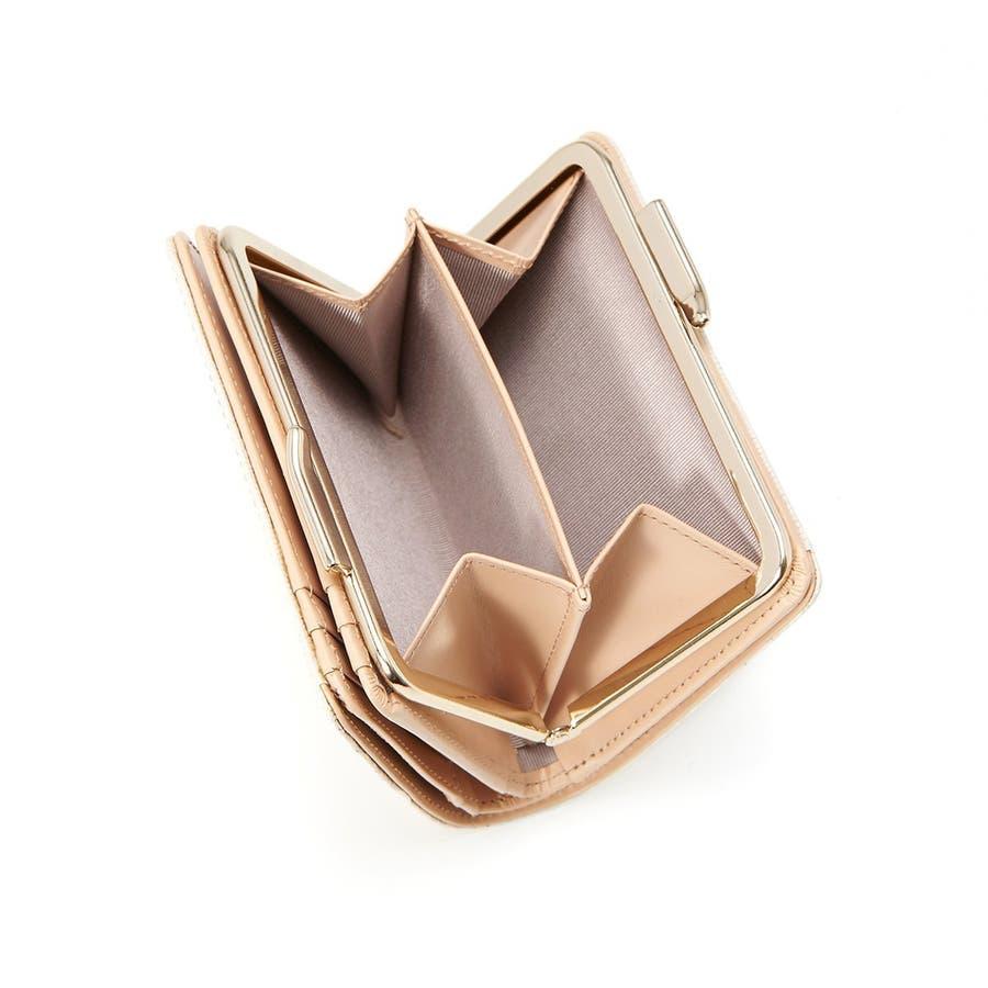 イタリアンレザー・リザード型押し・がま口2つ折り財布 LUCIA ルチア 2