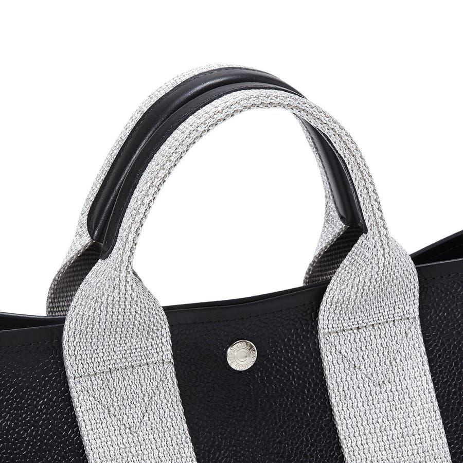 [トプカピ ブレス] TOPKAPI BREATH ラメハンドル スコッチグレインネオレザー・ミニトートバッグ 3