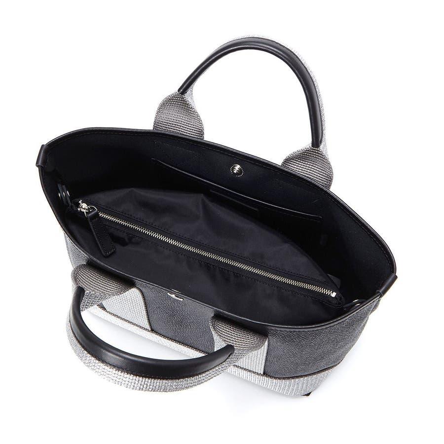 [トプカピ ブレス] TOPKAPI BREATH ラメハンドル スコッチグレインネオレザー・ミニトートバッグ 4