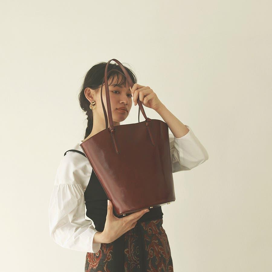 [トプカピ トレジャー] TOPKAPI TREASURE ツヤレザー ノットハンドル バケツ バッグ 6