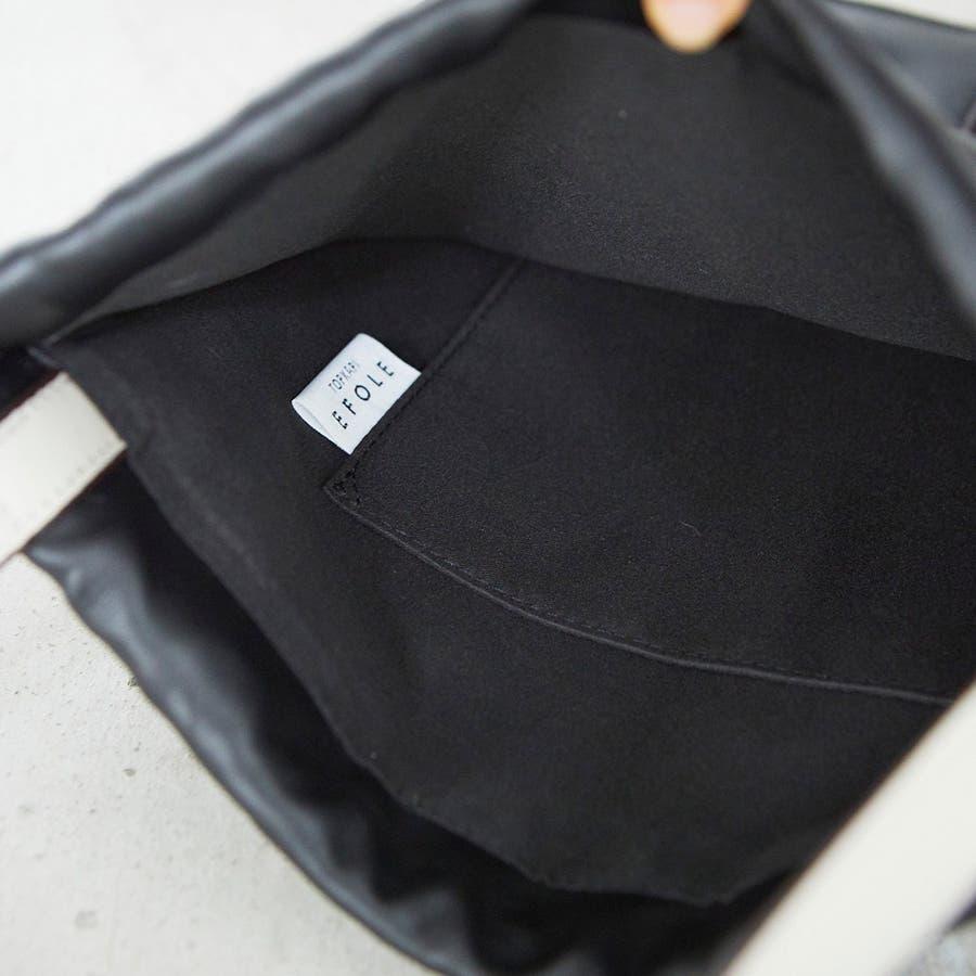 [トプカピ エフォル] TOPKAPI EFOLE フェイクレザー バイカラー 巾着 トートバッグ 4