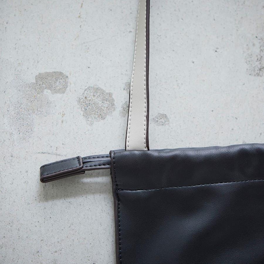 [トプカピ エフォル] TOPKAPI EFOLE フェイクレザー バイカラー 巾着 トートバッグ 5