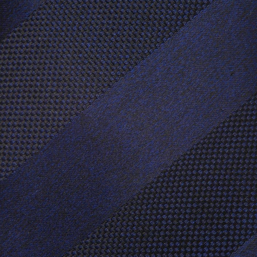 メランジサテンバスケットミックス織りストライプ無地 ネクタイ コン 3
