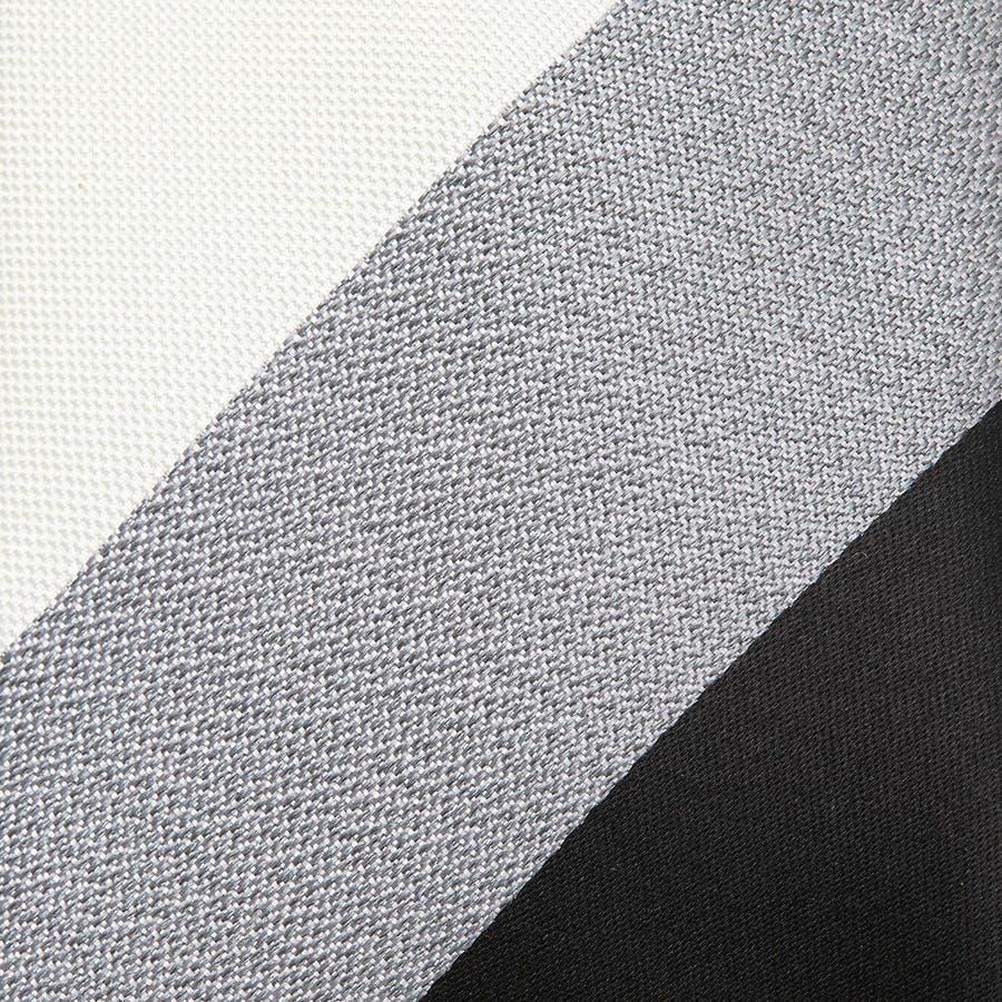 3段ストライプ ネクタイ ブラック 3