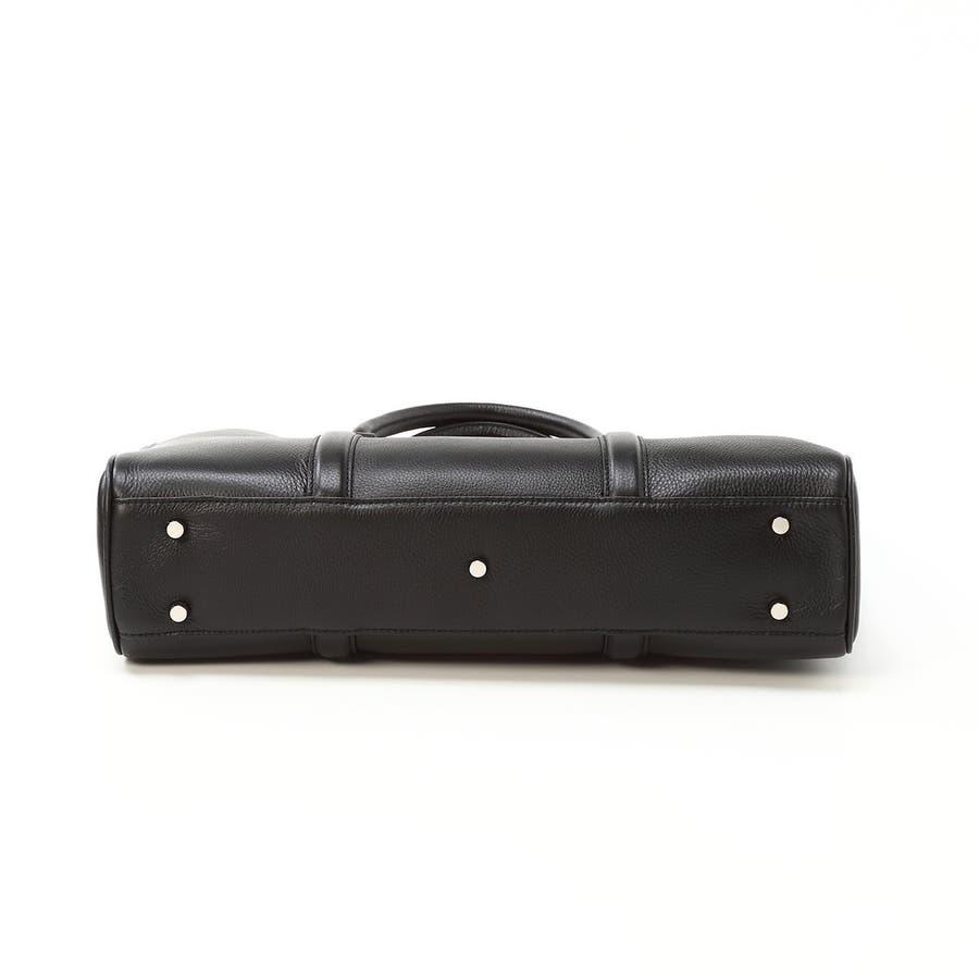 シュリンクレザー ビジネストートバッグ ブラック 10