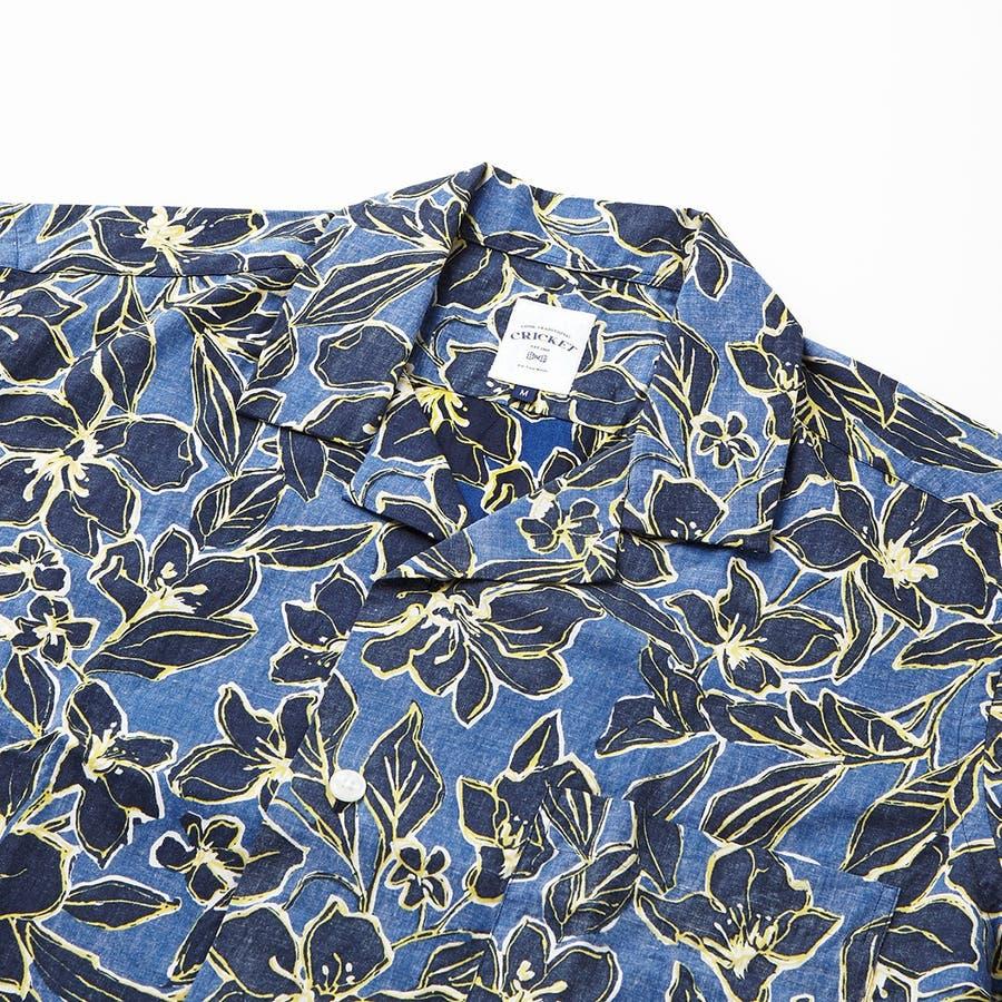 ハワイアン柄プリント 半袖オープンカラーシャツ 3