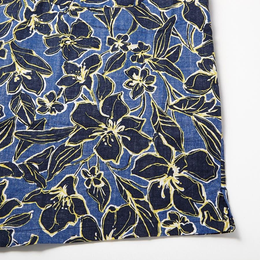 ハワイアン柄プリント 半袖オープンカラーシャツ 5