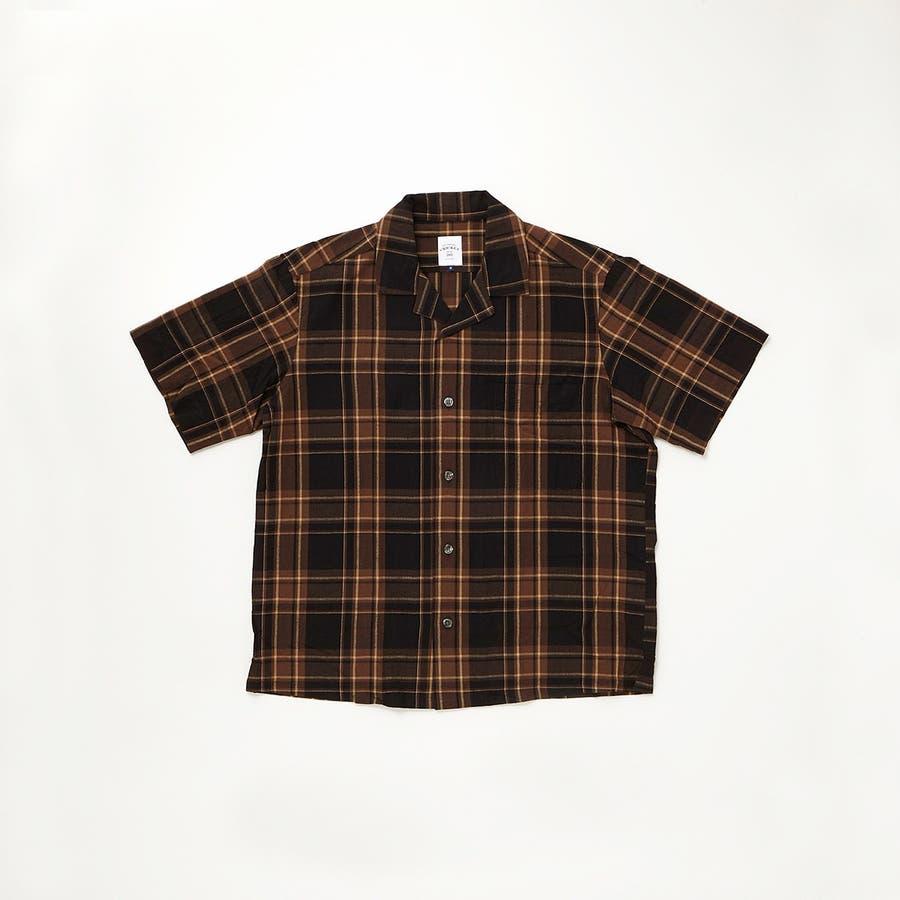 マドラスチェック 半袖オープンカラーシャツ 21