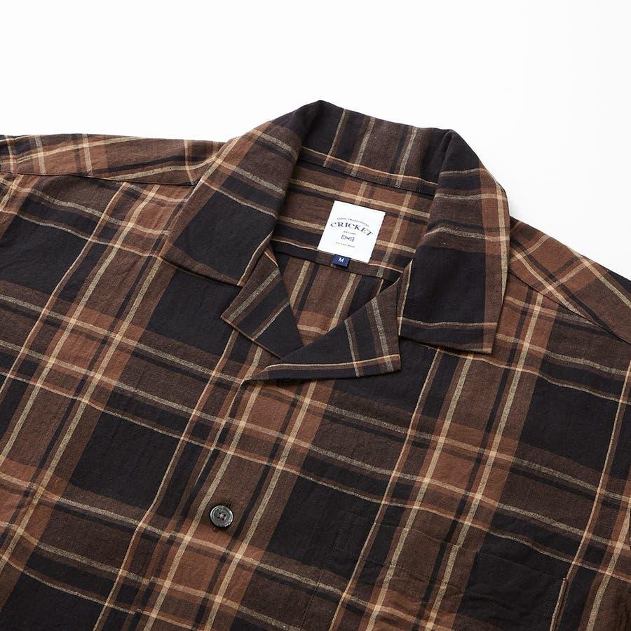 マドラスチェック 半袖オープンカラーシャツ 3