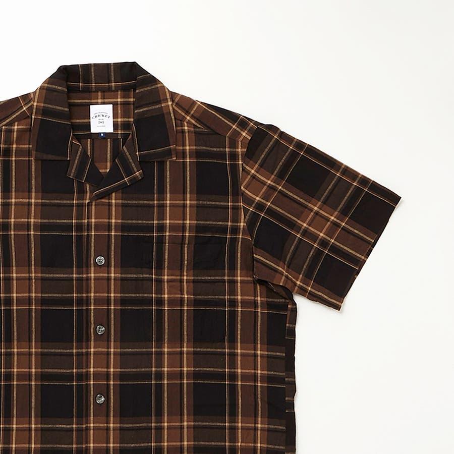 マドラスチェック 半袖オープンカラーシャツ 4