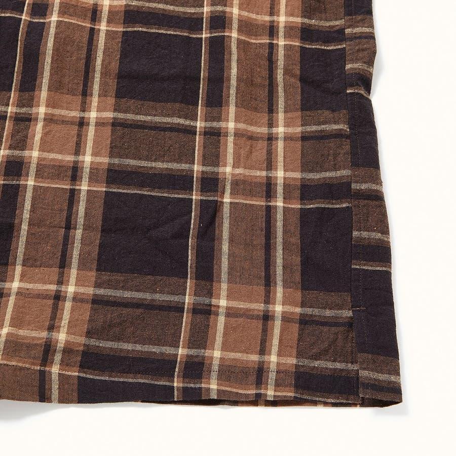 マドラスチェック 半袖オープンカラーシャツ 5