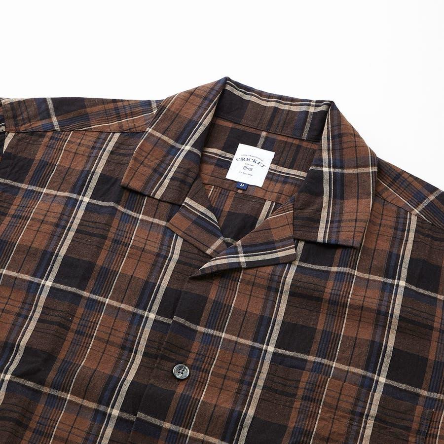 マドラスチェック 半袖オープンカラーシャツ 7