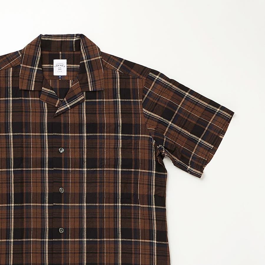 マドラスチェック 半袖オープンカラーシャツ 8