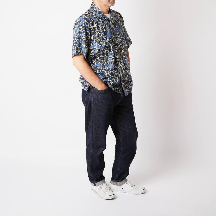 ハワイアン柄プリント 半袖オープンカラーシャツ 1