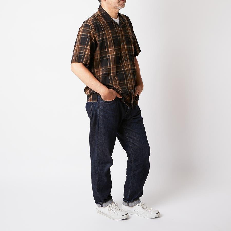 マドラスチェック 半袖オープンカラーシャツ 1