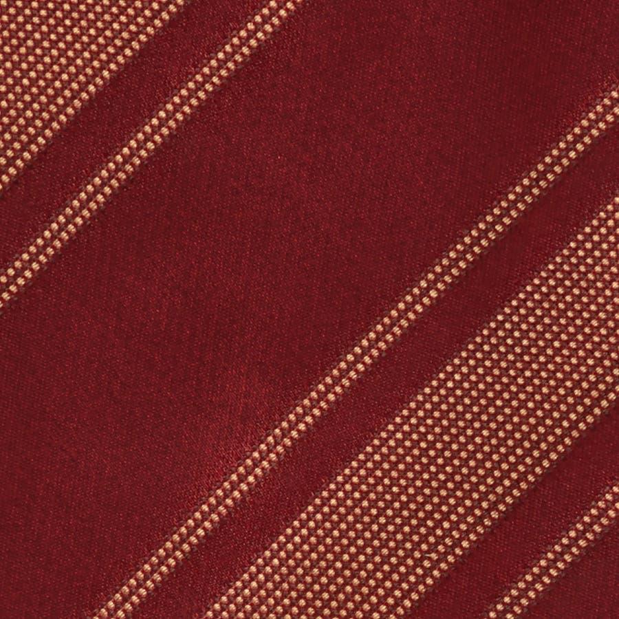 イタリア製生地 ミックス織りストライプ ネクタイ Noble ノーブル レッド 3