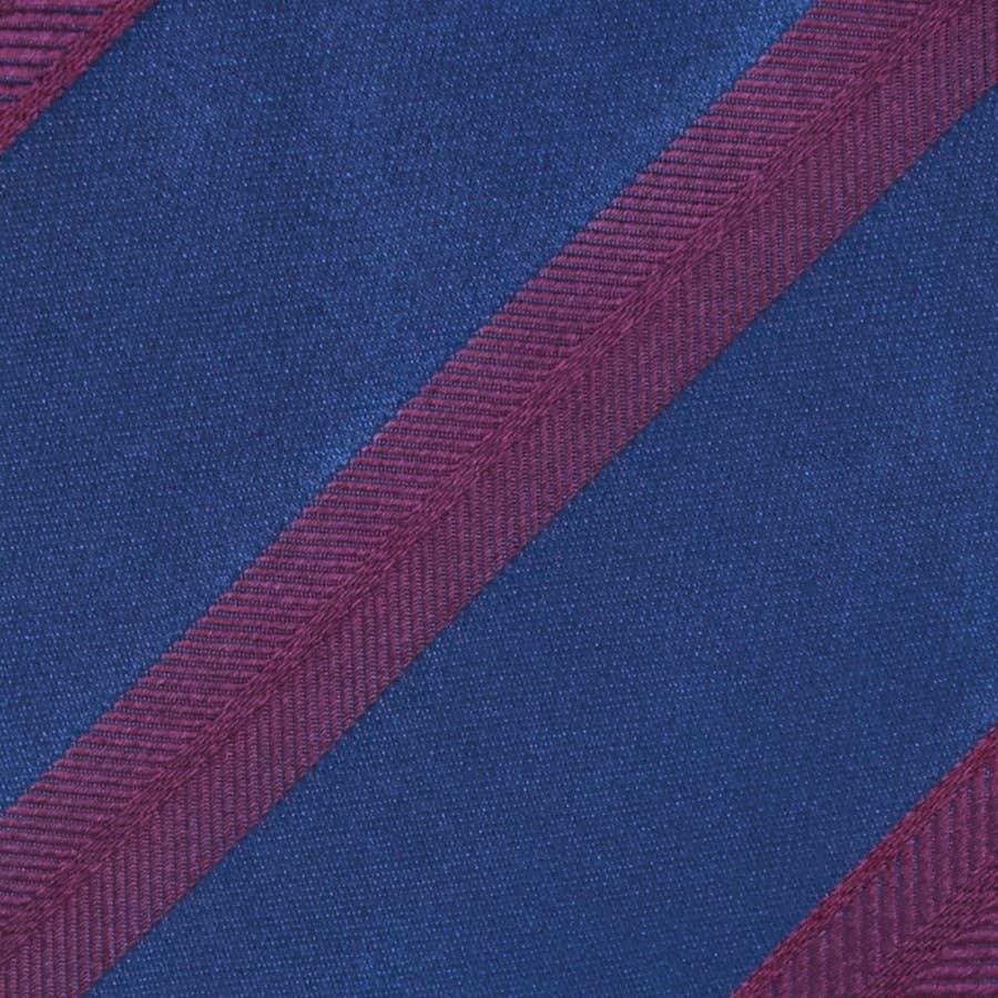 イタリア製生地 サテンミックス織りストライプ ネクタイ Noble ノーブル エンジ 3