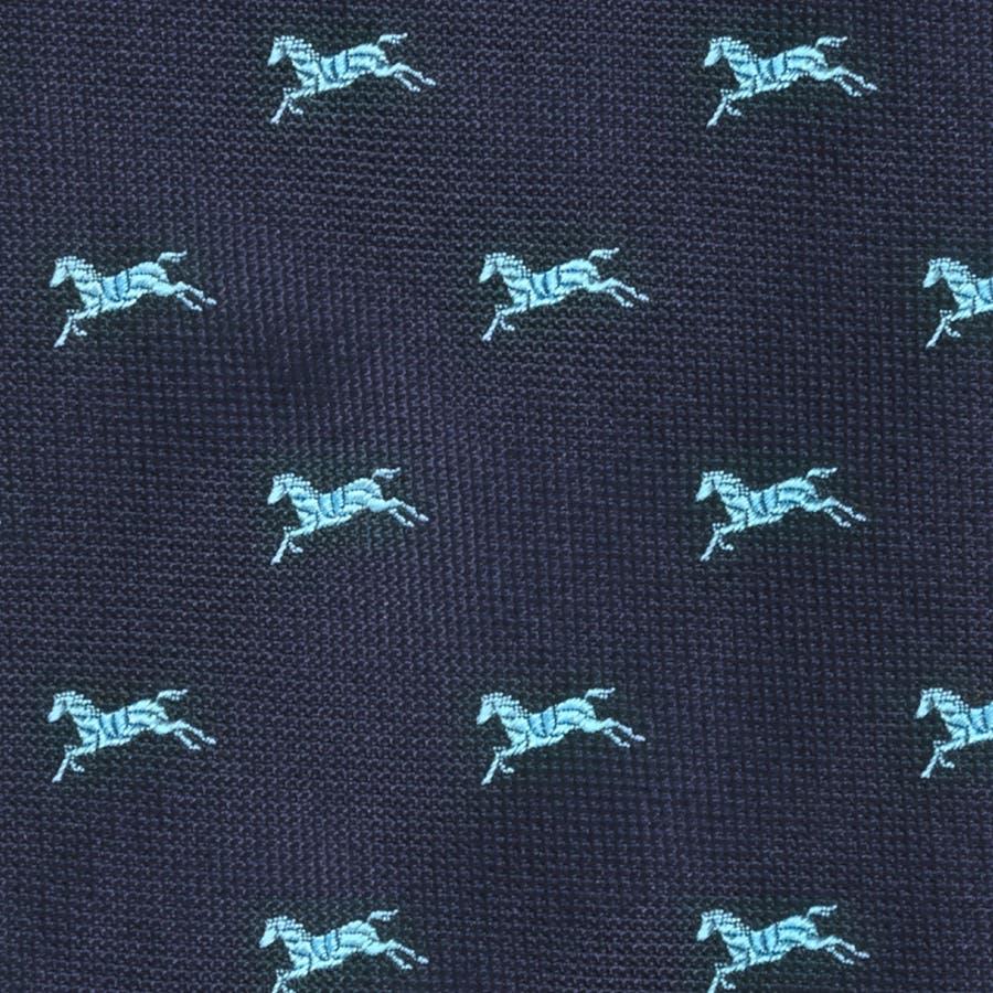 イタリア製生地 アニマルモチーフ柄 ネクタイ Noble ノーブル ブルー 3