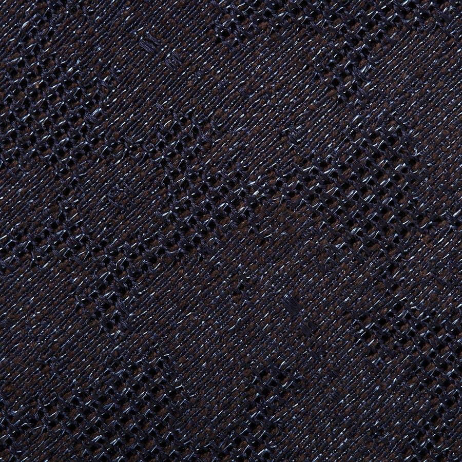フレスコ織りペイズリー柄 ネクタイ コゲチャ 4