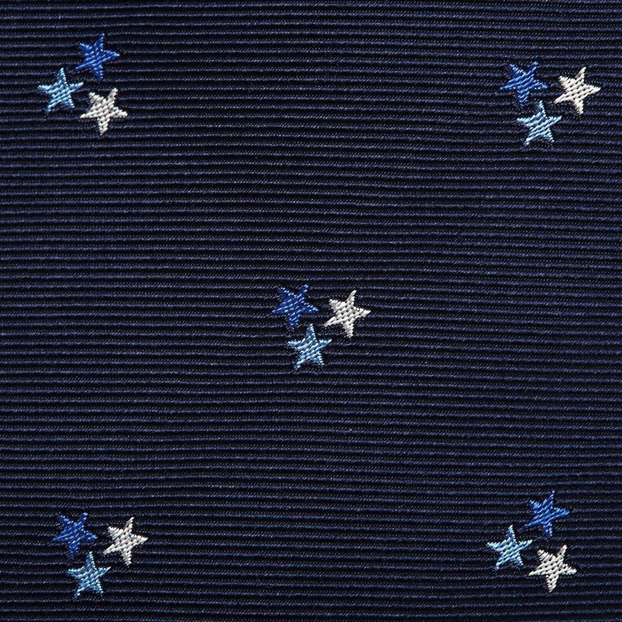 モチーフ柄 ネクタイ ブルー 4