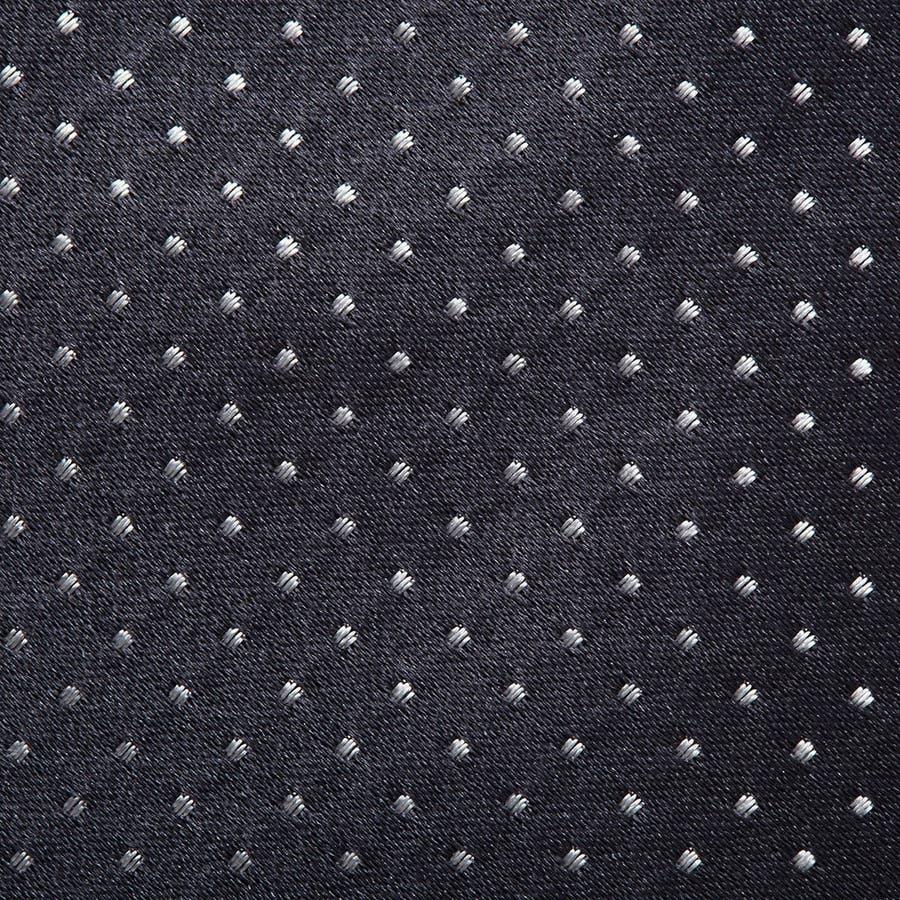 サテン織りピンドット柄 ネクタイ チャコールグレー 4